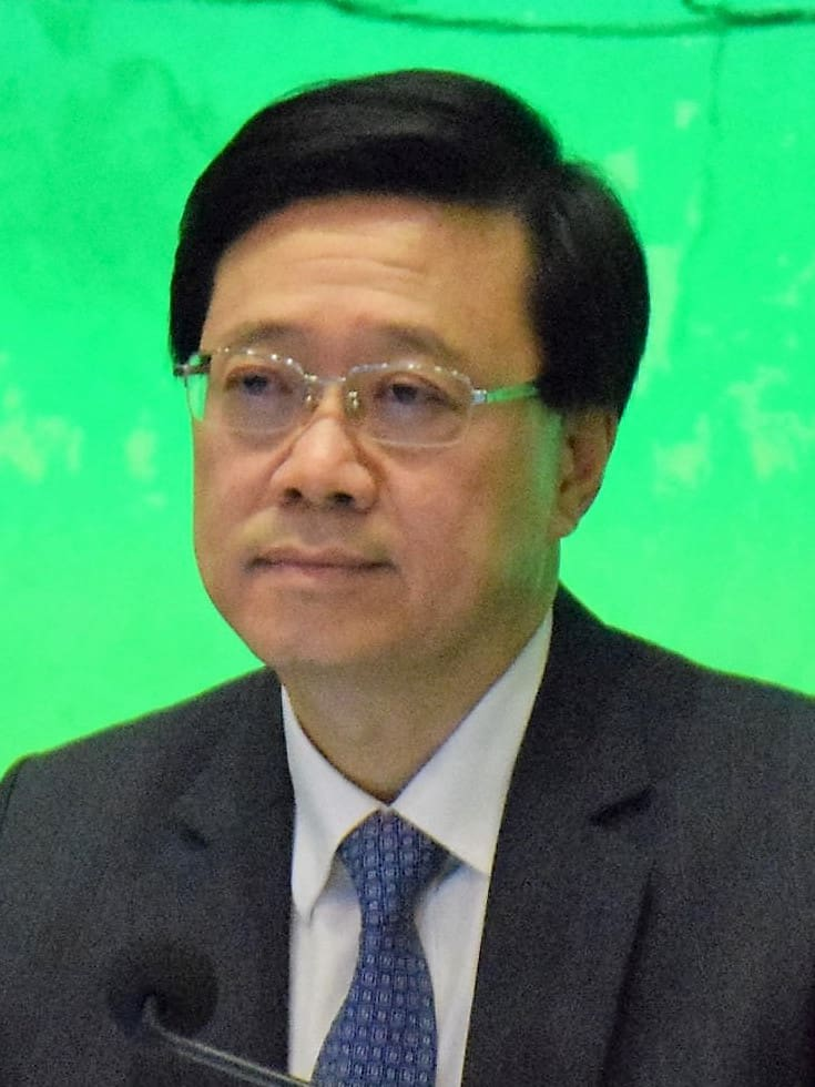John Lee, security minister of HK